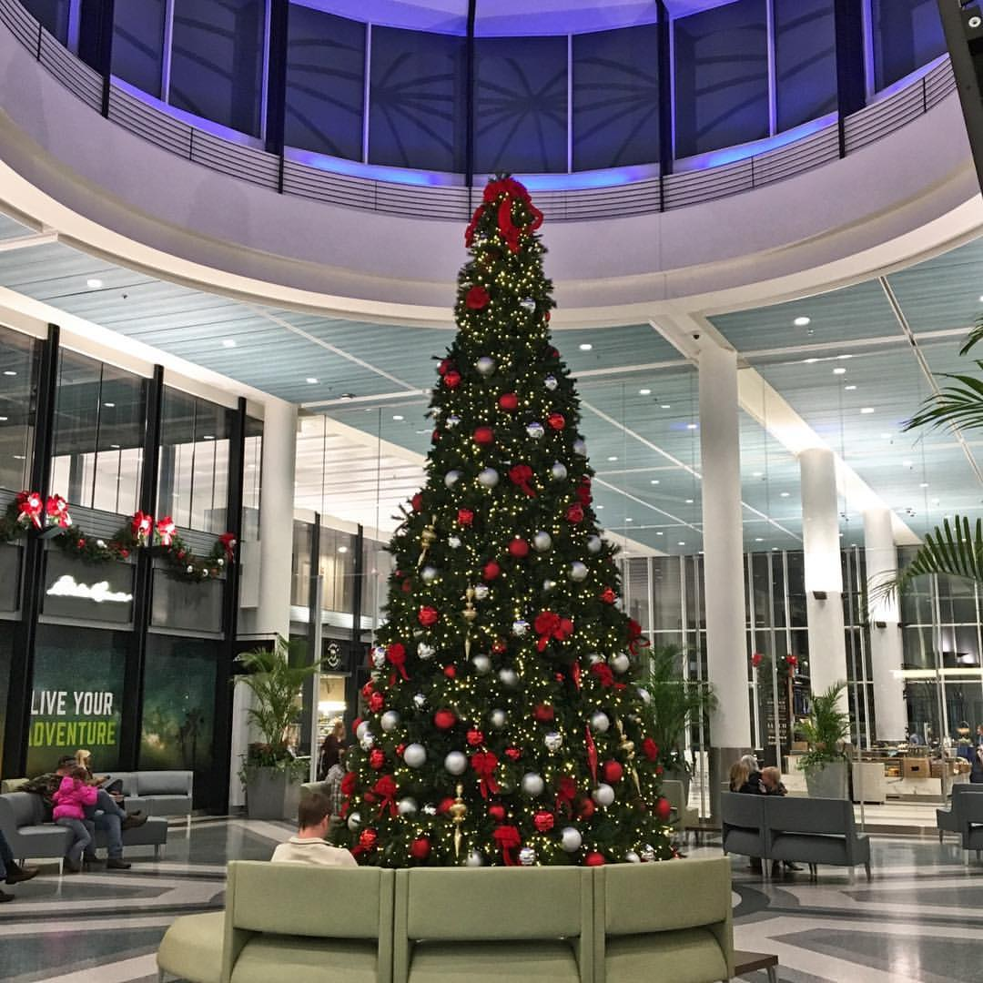 Christmas tree at the Charleston International Airport.